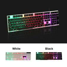 Computer Gaming RGB Keyboard LED Colorful Backlit Ergonomic Design For XBox PS4