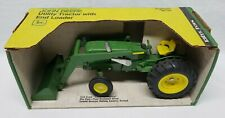 John Deere Utility Tractor with End Loader 1/16 Ertl NIB Yellow Top Box No. 517