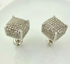 Natural Diamonds Cube Stud Earrings in Sterling Silver (1.15 ct. t.w.)