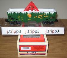 LIONEL #82710 CHRISTMAS PENNSYLVANIA ICE BREAKER TUNNEL HOPPER CAR O GAUGE TRAIN