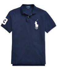 Polo Ralph Lauren Men's Big Pony Custom Slim Fit Mesh Polo Shirt (S-M-L-XL-XXL)