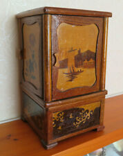 More details for antique japanese wooden marquetry box/container/display 6