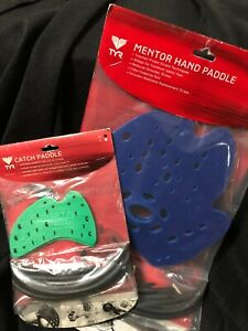 TYR Mentor Training Swim Paddle AND Catch Paddle COMBO BUNDLE