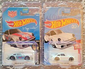 Hot Wheels Porsche 934 Turbo RSR, Then & Now, Nightburnerz, Silver, White 2 cars