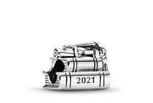 Authentic Pandora Sliver Bead 2021 Graduation Charm 799325C00