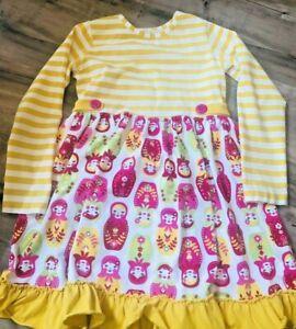 Girls Size 10-12 Kellys Kids  Dress w/ leggings Cotton Knit Long Sleeve (C112)