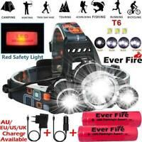 Rechargeable 90000LM LED Headlamp Headlight Flashlight Head Torch 18650 Camp