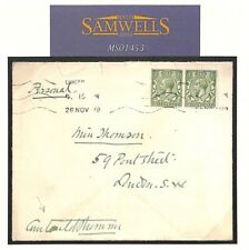 MS1453 1918 GB BRITISH RED CROSS Cover SIGNED *Courtauld Thomson* COMMISSIONER