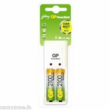 NEW GODREJ GP CHARGER FOR AA / AAA  WITH 2PCS AA 2100 MAH RECHARGEABLE BATTERY