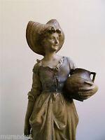Gr. Goldscheider Skulptur Mädchen Terrakotta Jugendstil Art Nouveau 65 cm hoch