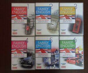 FAMILY ENGLISH CD-ROM Imparare l'inglese corso DeAgostini COMPLETO 6 CD