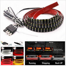 "60"" Triple Row LED 432SMD 3-Color Car Tailgate Turn Signal Lamp Strip Waterproof"