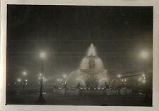 PHOTO ANCIENNE - VINTAGE SNAPSHOT - PARIS NUIT PLACE CONCORDE VERS 1930 - NIGHT