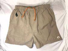 Nike ACG Mens Swim Shorts Size L Pocket Shorts Tan Beige Brown Mesh Lined