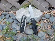 Black Bullet Fast Opening Spring Assisted Pocket Knife Quality Serrated Blade