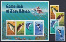 Fische  Meerestiere   Kenia  66 - 69 + Block 4  **  (mnh)