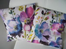 Kissenhülle Aquarell 40x40 cm  Landhaus  Blüten Impressionen Karibik Garten Mohn