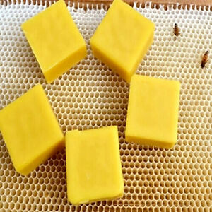 5 pcs Natural Pure Beeswax Ballina Honey Cosmetic Grade Bees Wax Bee New