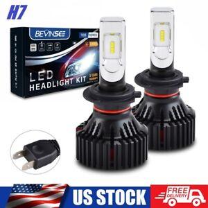 Bevinsee 2x H7 LED Headlight Conversion Kit 100W 15000LM 6500K White Light Bulbs