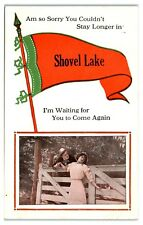 Early 1900s Am So Sorry You Couldn't Stay In Shovel Lake, MN Come Again Postcard