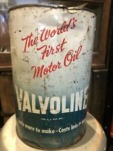 Valvoline 5 US Qts Vintage Can Used