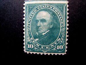 1895 US S# 273, 10c Webster, double line watermark MLH OG f