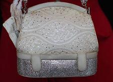 Judith Leiber 007 IVORY CREAM Clutch SWAROVSKI CRYSTAL SHOULDER Bag BRIDAL GIRLY