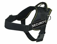 "DT Fun Works Harness Security Black w Yellow Trim X-Small Girth Size: 20"" to 23"""