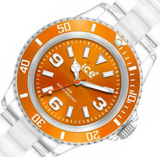 Ice-Watch $110 Womens Orange Dial Clear Watch CL.OE.U.P.09 BOX IMPERFECTION