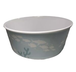 Celebrate Spring Together MELAMINE Bowl Coral Reef Motif BLUE