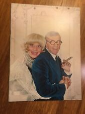 Carol Channing & George Burns Souvenir Program 1974 Good Condition