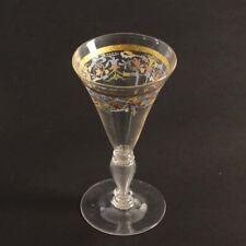 Murano Glas CVM um 1910 Kelchglas reich dekoriert gold rising Emailledekor
