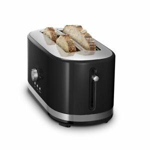 KitchenAid Long 4-Slice Toaster | Onyx Black