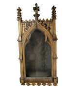 """Large Antique Gothic hand Carved Wood Chapel Niche for Statue Collector 37.99"""""""