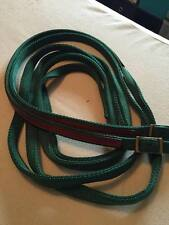 NEW WEAVER WESTERN NLYON SPLIT REINS LEATHER HORSE HUNTER GREEN 7FT