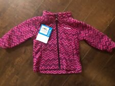 New Columbia Pink Chevron Zig Zag Fleece Suit PINK Infant Baby 12-18 Months