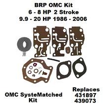 BRP Johnson Evinrude Carburetor Carb Kit 6 8 9.9 15 20 HP 431897 BRP OMC
