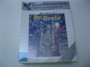"""Castle of Dr. Brain new sealed PC 3.5"""" disks Sierra Discovery Series"""