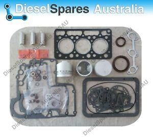 Kubota D950 Overhaul / Rebuild Kit (Pistons Rings Bearings Gasket Set)
