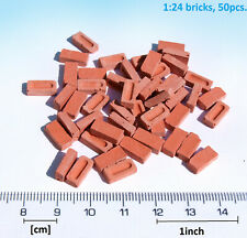 1:24 Miniature Bricks G scale 50pc Red model dollhouse diorama wargame modellbau