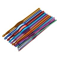 14 Sizes Multi coloured Aluminum Crochet Hooks Needles Set 2mm-10mm A7A5