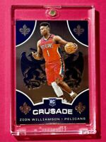 Zion Williamson PANINI CHRONICLES CRUSADE ROOKIE CARD HOT INVESTMENT - Mint!