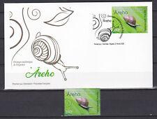 Polynesia 2020 polynesie Natura Areho Escargot Snail 100 fr FDC + stamp MNH**