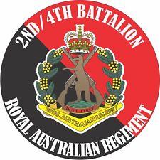 2ND/4TH BATTALION ROYAL AUSTRALIAN REGIMENT UV LAMINATED VINYL STICKER 100MM DIA