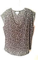 Pure Energy Women's Sleeveless Blouse Top Black White Plus Size 2X