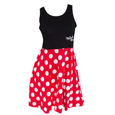 Minnie Mouse Women's And Red Polka Dot Dress Black