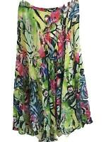 Casual Studio skirt size L large maxi floral some stretch angled length