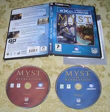 MYST IV REVELATION  PER PC/MAC DVD-ROM  ITALIANO