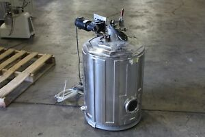 """Varian Vacuum Chamber For Sputter Coating 26"""" Length x 20"""" Wide"""