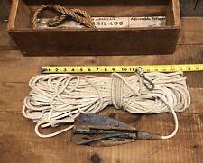 Antique Bliss American TAFFRAIL LOG Brass John Bliss With Original Box Nautical